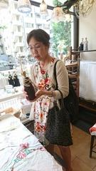 ちゃーちゃんママさん 花柄のワンピースが素敵です.jpg