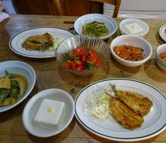 イワシのソテー モロッコいんげんと油揚げの煮物.jpg