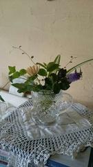 ベランダの花とグリーン.jpg