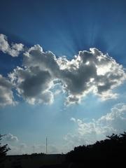 午後に又 太陽と雲のせめぎ合い(笑).jpg