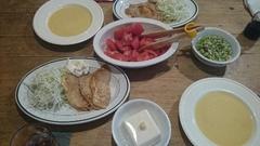 夕ご飯は生姜焼きとスープ.jpg