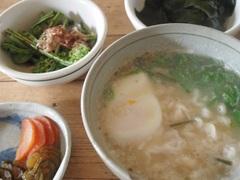 山菜ラーメン こごみのお浸し.jpg