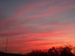 横筋の雲がこんなに赤く染まって・・・。.jpg
