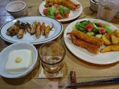 海老フライとチキンのハーブ焼き.jpg