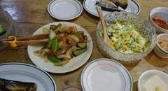 茹で卵と豆のサラダ 野菜だけの炒め物♪.jpg