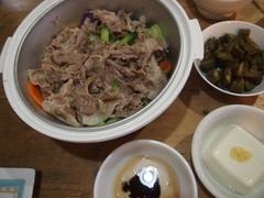 豚肉と野菜の蒸し鍋 美味しかったぁ~.jpg