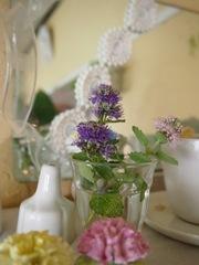 陶器の花と はいチーズ♪.jpg