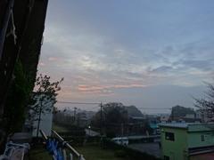 雨がやんで朝陽が射してきました.jpg