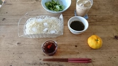 頂いた素麺でランチ.jpg