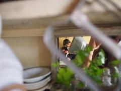 食器を洗っていたら仲の良い姿が・・・。.jpg