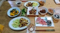 夕ご飯はお肉と長ネギをすき焼きのたれで.jpg