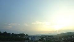 美しい夕景を見ながら帰路に.jpg