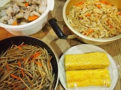 野菜の煮物 切干大根の煮物 金平 厚焼き玉子.jpg