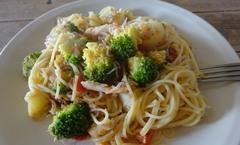 鶏と野菜のパスタ 美味しかった.jpg